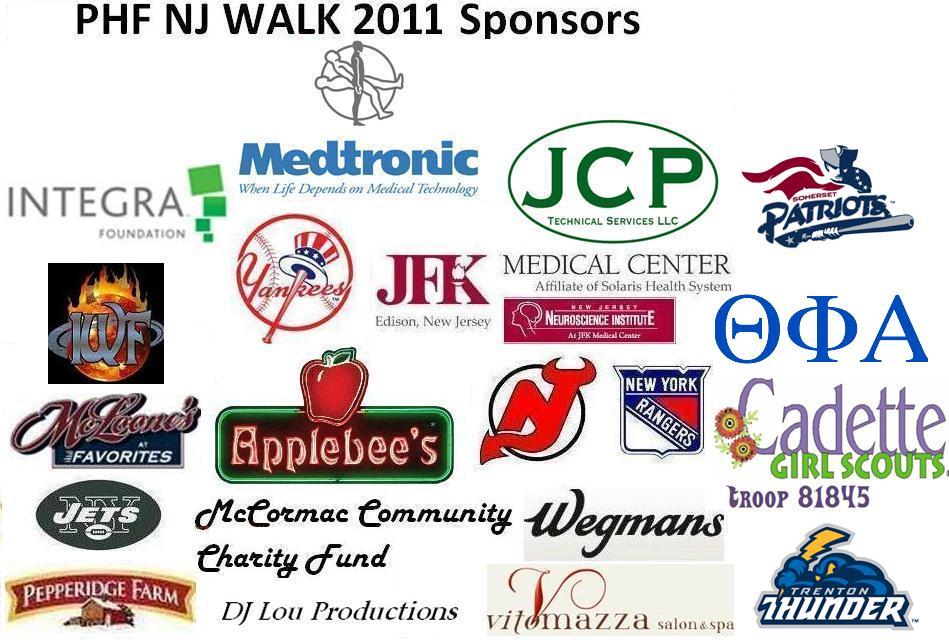 PHF WALK Sponsors